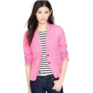 J Crew Pink Schoolboy Blazer Jacket Size 2 EUC